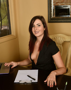 Helena Price sexy office work