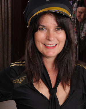 Captain Sherry Lee is ready to takeoff her clothes