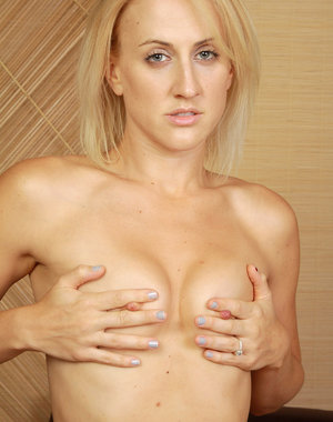 Horny blonde Dylan Ryan from AllOver30 gets herself off in here