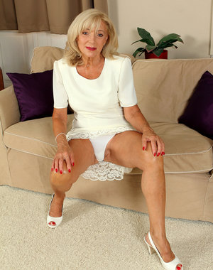 65 year old elegant Kamilla from AllOver30 shows off her hot body